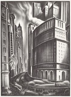 The National Gallery of Art, Washington DC.  Its The Urban Scene: 1920–1950 exhibit runs thorugh August 6.