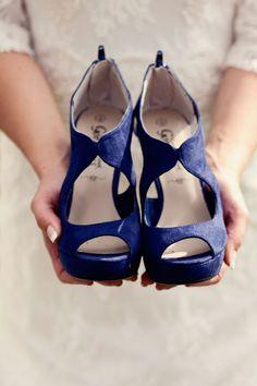 Something blue wedding heels