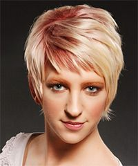 A great short hairstyle with some pink highlights just to make it funky.