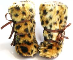 Last pair. Cheetah Animal Print Faux Fur and by funkyshapes, $32.95