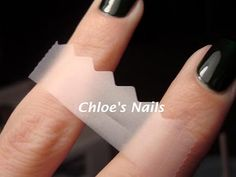 nail art patterns with tape and fancy scissors