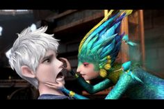 Jack Frost and the Tooth Fairy from Rise of the Guardians