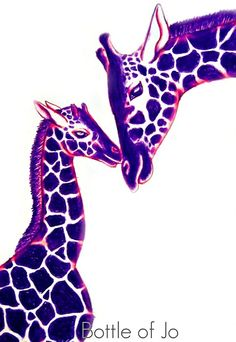 Giraffes :) would look awesome framed in my room!!