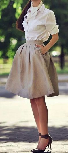 Full gray skirt