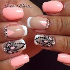 Irina Marten: una nail artist que marca tendencia Diy Nail Designs, Acrylic Nail Designs, Acrylic Nails, Nails Only, Love Nails, Stylish Nails, Trendy Nails, Mandala Nails, Short Nails Art