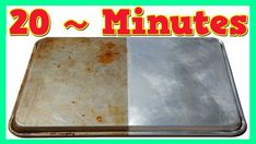 How To Clean Cookie Sheets ~ What Is The Best Way To Clean Sheet Pans ~ Learn the easiest way to clean those grimey baking pans and cookie sheets that . Cleaning Aluminum Pans, Cleaning Pans, How To Clean Aluminum, Cleaning Baking Sheets, Cleaning Appliances, Diy Cleaning Products, Cleaning Solutions, Kitchen Cleaning, Clean Cookie Sheets