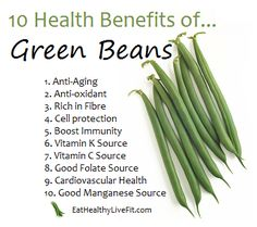 The Health Benefits of Green Beans | Eating Healthy & Living Fit - EatHealthyLiveFit.com
