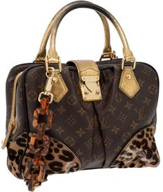 Heritage Vintage: Louis Vuitton by Stephen Sprouse Classic Monogram Canvas and Leopard Pony Hair Adele Bag with Tortoise Link Shoulder Strap