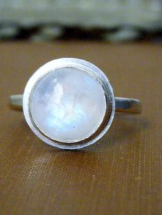 Adularia - Moonstone Ring. I'm loving moonstones more and more!