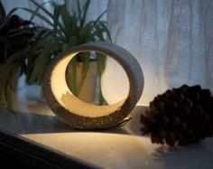Beton-Lampe Ellipse  Tischleuchte