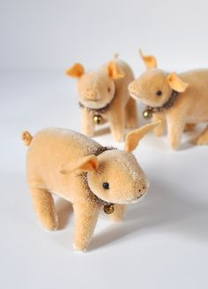 jennifer murphy bears — hand made mohair Pigs