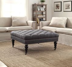The Isabelle Square Ottoman is a stylish and versatile addition to your home's…
