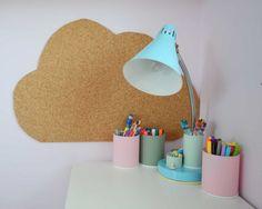 DIY cloud pinboard from corkwood