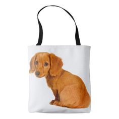 #Add Your Own Custom Dog Photo Dachshund Puppy Tote Bag - #dachshund #puppy #dachshunds #dog #dogs #pet #pets #cute