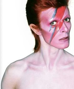 David Bowie from the Aladdin Sane album cover photo session.