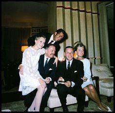 Mia Farrow,Dean Martin,Frank Sinatra and Jeanne Martin