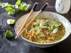 Laksa: Malaysische Kokos-Currysuppe