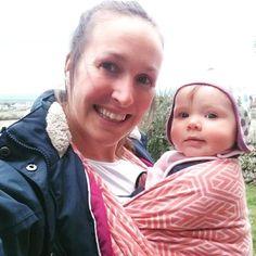 #babywearing at home in #Cornwall. #Wovenwings #Winglet #iamawinglet #Blush