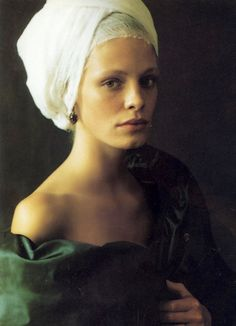 "What do you think when you see these serenity  images ""Infanta styles""  created by Paolo Roversi?  They take me  for  a journey of art of   Vermeer, Rembrandt and a little bit - Velazquez  ( he often painted infantas )"