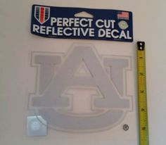 "Auburn Tigers Official NCAA 6""x6"" Reflective Die Cut Car Decal Wincraft  