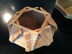 Vintage popsicle stick basket from Lawson Fenning tyhey could make these boxes