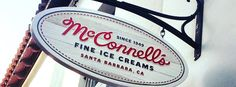 McConnell's Ice Cream // With flavors like Churros con Leche, Sea Salt Cream and Cookies, and Eureka Lemon and Marionberries, this classic ice cream shop is a must on your to-do list. Hit up their State Street location while on a stroll through the shops. // The Ultimate Santa Barbara Travel Guide via @MyDomaine