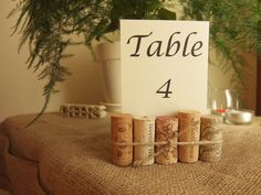 Wine Cork Table Number Holders are wonderful for weddings, parties or any rustic, wine-themed event. These holders would be perfect for displaying