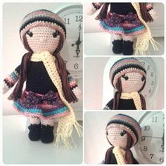 Doll Leyla by Miss Colorful Crochet Crochet Dolls Free Patterns, Amigurumi Patterns, Crochet Toys, Free Crochet, Knit Crochet, Crochet Ideas, Teddy Toys, Boy Doll, Knitted Dolls