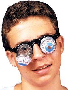 costume accessory: goofy droopy eyes carded Case of 4