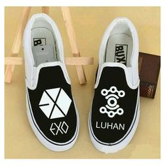 EXO Luhan shoes omg I like have to have theese Kpop Fashion, Korean Fashion, K Pop, Exo Merch, Concert Dresses, Kpop Diy, Kpop Outfits, Casual Outfits, Luhan