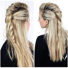 Men hur snyggt är inte det här!?  Så här ska jag testa att göra med mitt hår nångång. ㈳