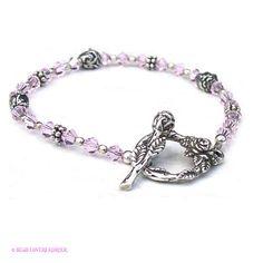 Dainty Beaded Bracelet Rose Buds Light Pink Swarovski Crystal by beadloverskorner