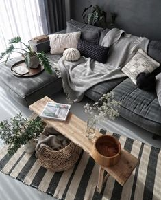 Een hele comfortabele, grijze loungebank