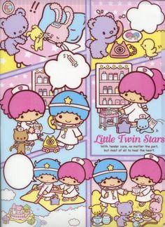 Image 0 of Sanrio Little Twin Stars Comics A4 Plastic File Folder #1 (FF1280)