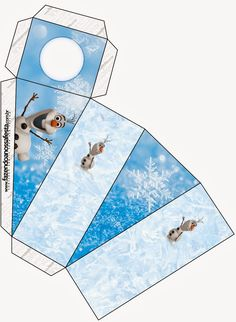 Olaf: Free Printable Boxes. Printable Box, Templates Printable Free, Free Printables, Olaf Frozen, Frozen Free, Pig Birthday Cakes, Frozen Birthday Party, Birthday Themes For Boys, Kids Party Themes