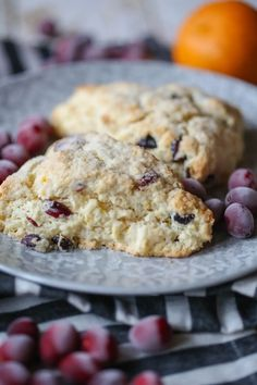 These Orange Cranberry Scones are perfect for holiday baking and snacking! A few humble ingredients are transformed into something magical! Breakfast Dishes, Breakfast Recipes, Dessert Recipes, Desserts, Breakfast Time, Cranberry Orange Scones, Weird Food, Holiday Baking, Sweet Bread
