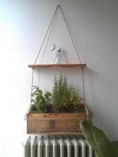Built myself a herb hanger from pallet wood.