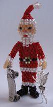 3D Santa With Toys Beading Pattern by Ruth Kiel at Bead-Patterns.com
