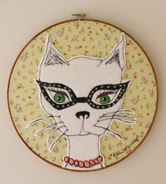 Carly Altree-Williams - Dolores hand embroidery
