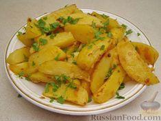 Рецепт Картофель, запеченный в горчице, cостав: картофель, горчица, чеснок, соль (по вкусу), масло растительное, зелень (петрушка, укроп) для подачи;, Рецепты вторых блюд, Гарниры, Овощные, Пошаговый, С фото, В духовке, Блюда из картофеля, Картофель запеченный, время приготовления 70 мин., затраты времени 20 мин., на 4 порций