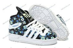 1444d8ea8945 2013 Adidas Jeremy Scott Mickey Black Blue Women s Athletic Running Shoes  sneakers