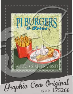 Pi Burgers and Fries #food #grafcow
