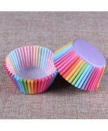 Forminha de papel arco íris - 100 peças R$ 9,99