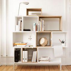 #muuto #stacked #shelf #system #small #medium #large #white #ash #homedecor #interiordesign  (3 small, 2 white 1 Ash) (2 big, 1 Ash Open 1 White w/wall. 4 Medium, 3 Ash w pink yellow grey, 1 white wall) <3