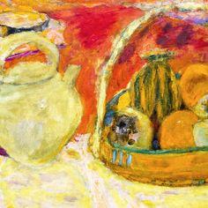 """Pierre Bonnard (1867-1947) """"Nature morte jaune et rouge"""", 1931 (detail)"""
