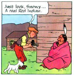 Tintin and snowy! Aline
