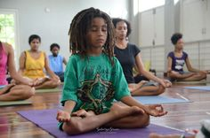 Photo Title: ~ A Child Shall Lead… ~   |   Image taken during a Kemetic Yoga Workshop in Kingston, Jamaica.