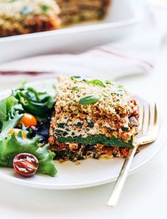 Vegan Cashew Ricotta Zucchini Lasagna- a light and healthy take on classic Italian lasagna made with cashew ricotta, marinara and fresh basil. Just as delicious and satisfying as the original! (gluten-free) If you're not vegan, please don't let that word scare you away from this recipe! When I said in the description above that it's just as …