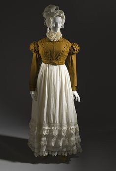 Spencer and petticoat ca. 1815 via The Los Angeles County Museum of Art