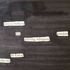 @scherestiftp | Blackout Poem | Season of Words | Get Messy Art Journal